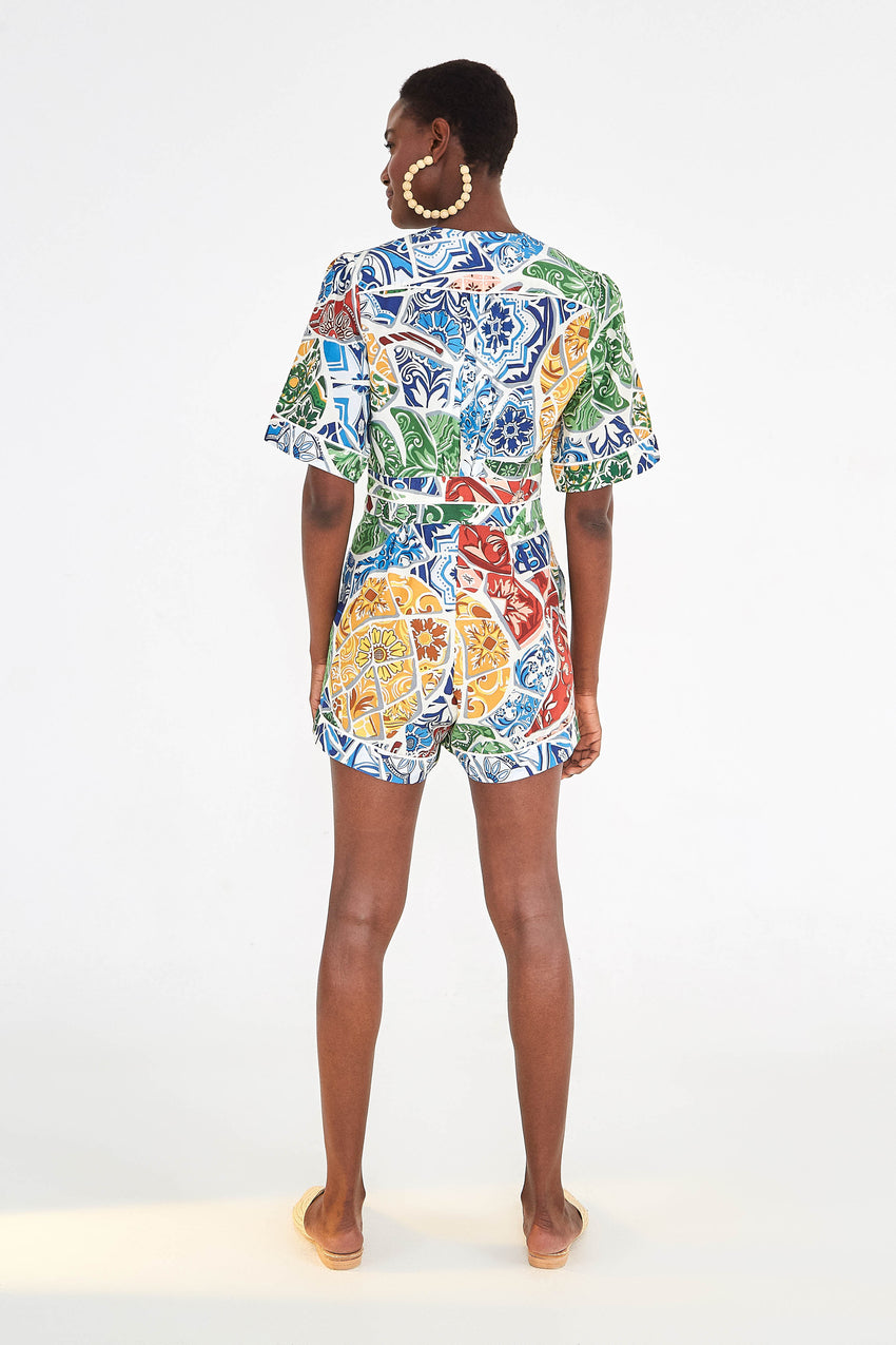 TROPICAL TILE JUMPSUIT