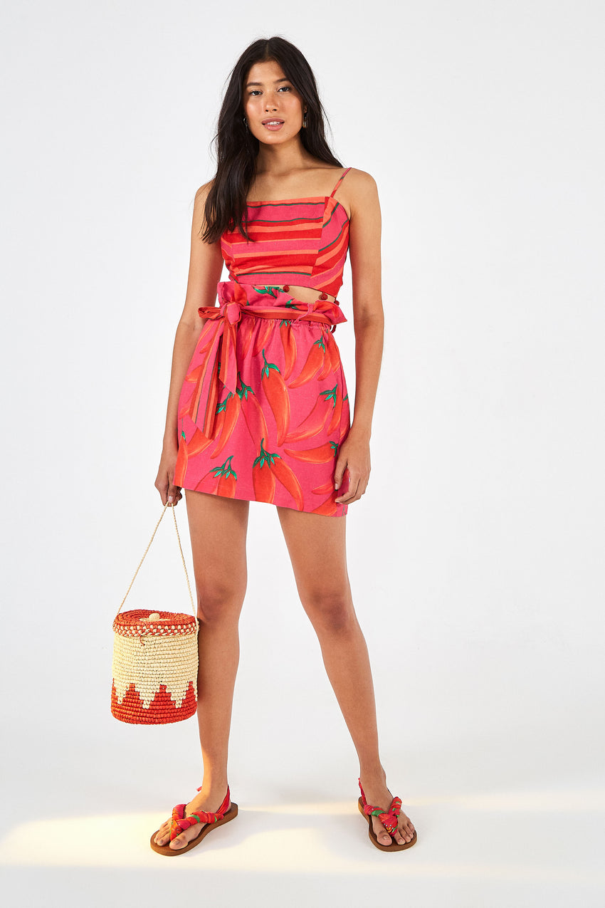 RED PEPPER SKIRT