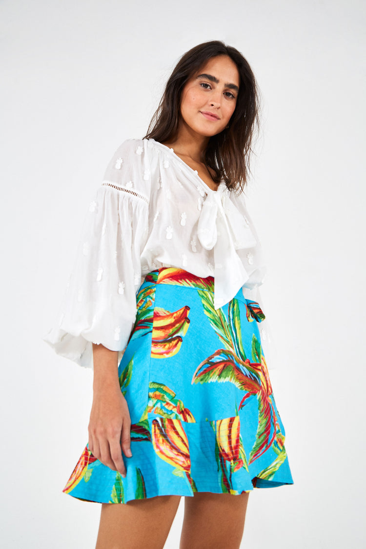 BANANA SKY MINI SKIRT