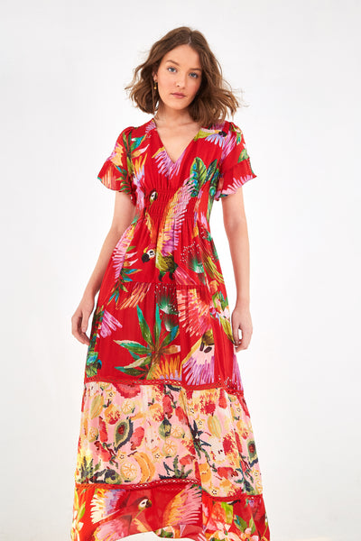 MACAW MIX MIDI DRESS