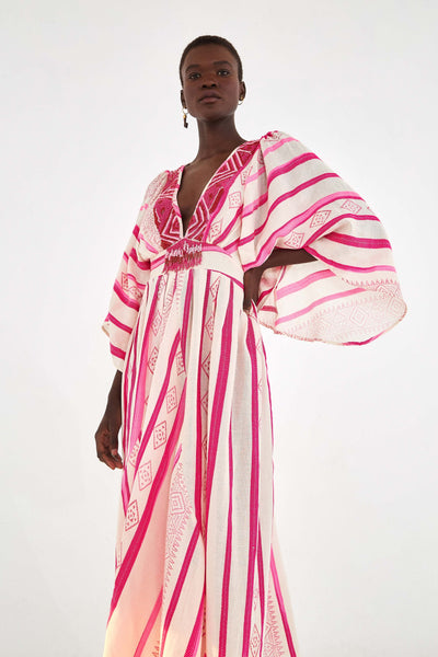JAQUARD CAFTAN DRESS