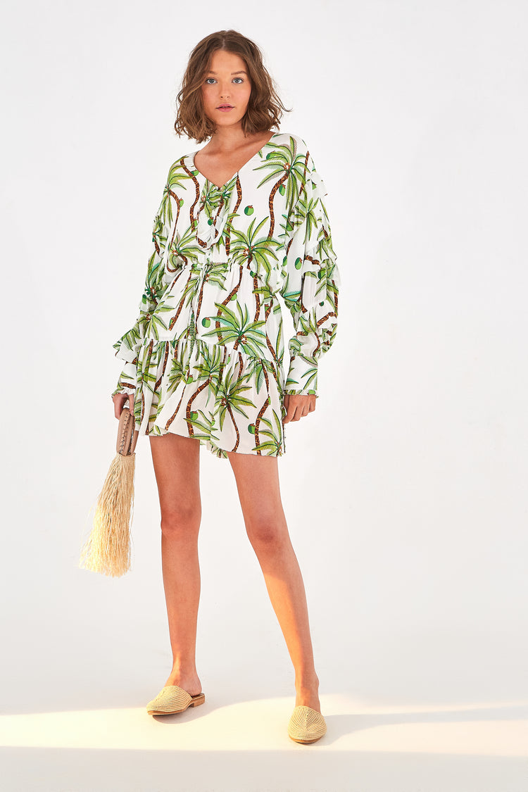 SWINGING PALM MINI DRESS