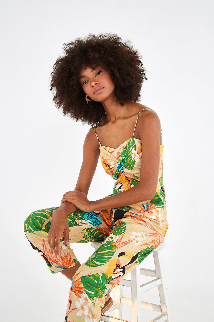 BEACH PALM JUMPSUIT