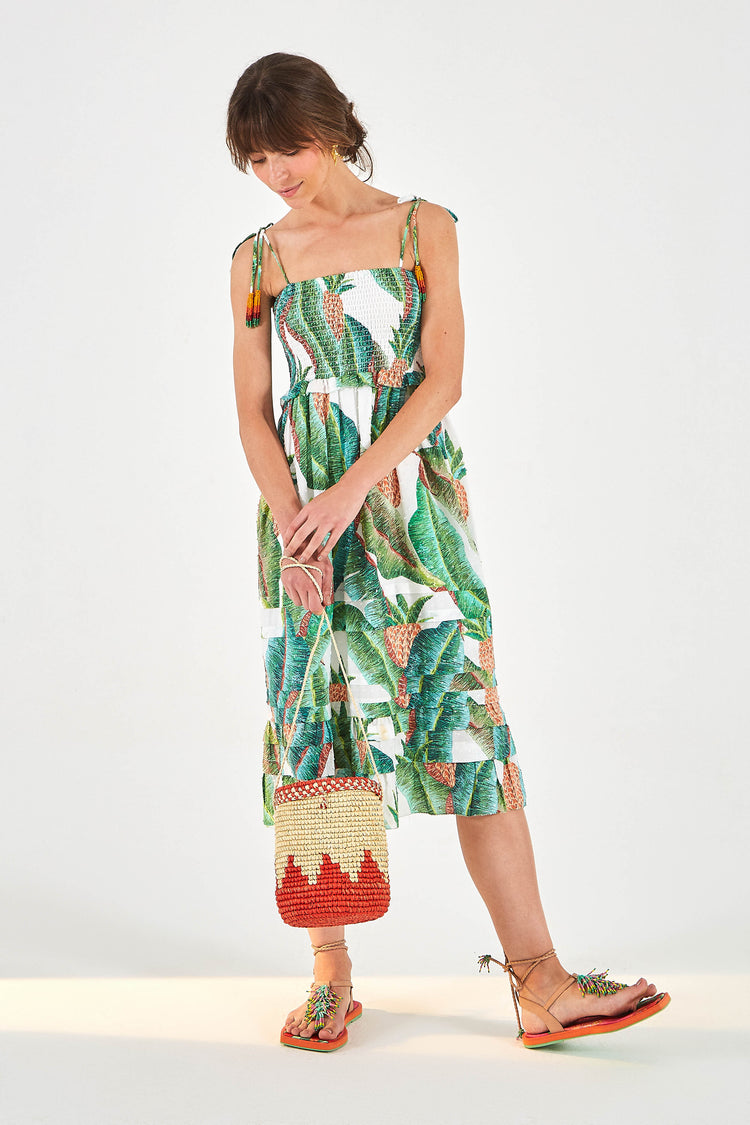 FOREST PALM MIDI DRESS