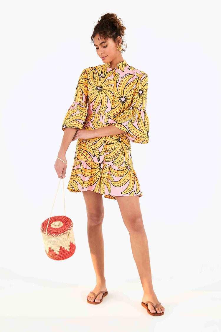 BANANA FLORAL MINI DRESS