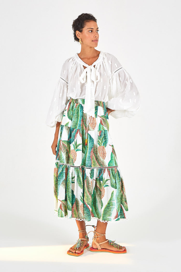 FOREST PALM MAXI SKIRT
