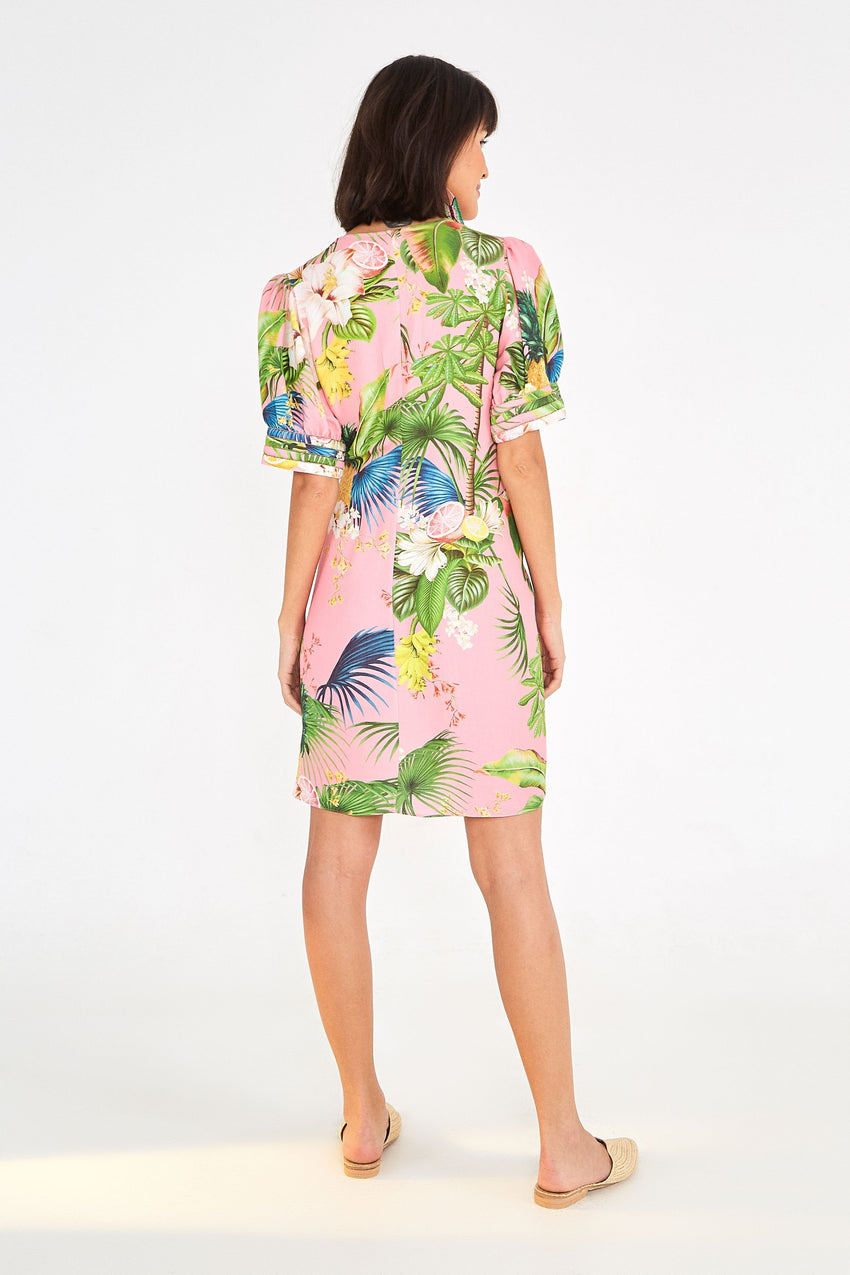 BAHIA FLORAL WRAP DRESS