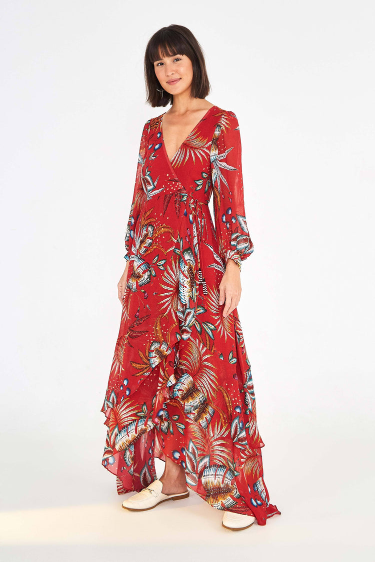 WINTER LEAF MAXI DRESS