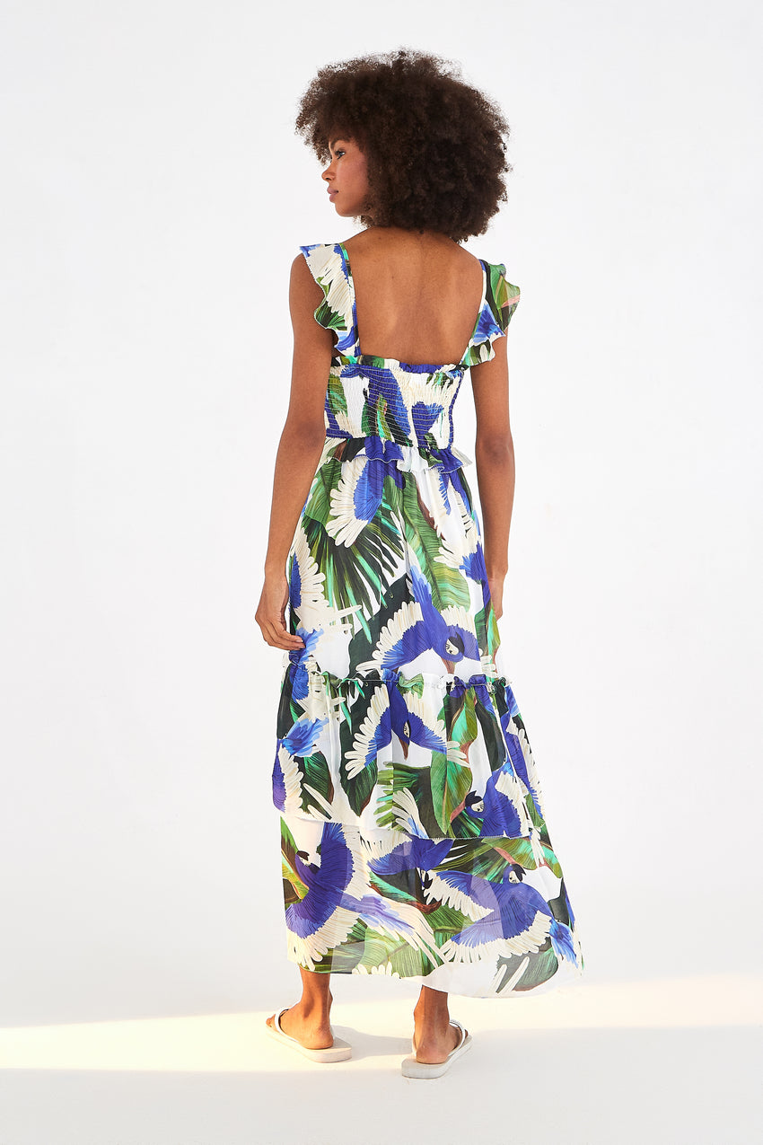 BLUE WIND MAXI DRESS