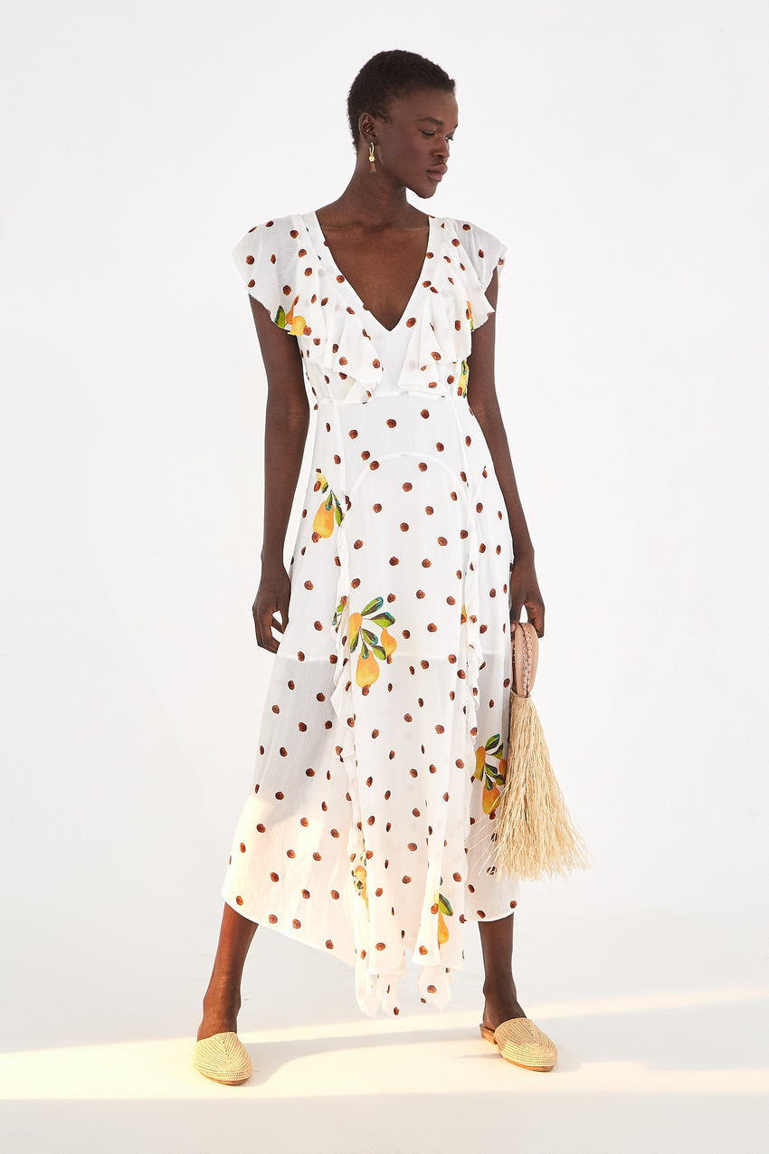 CASHEW DOT MAXI DRESS