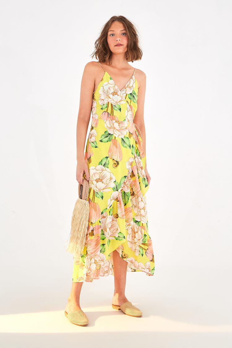 FLORAL CASHEW MIDI DRESS