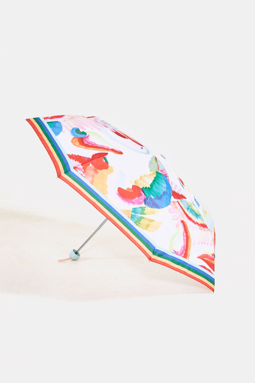 WHITE CASHEW FLORAL UMBRELLA