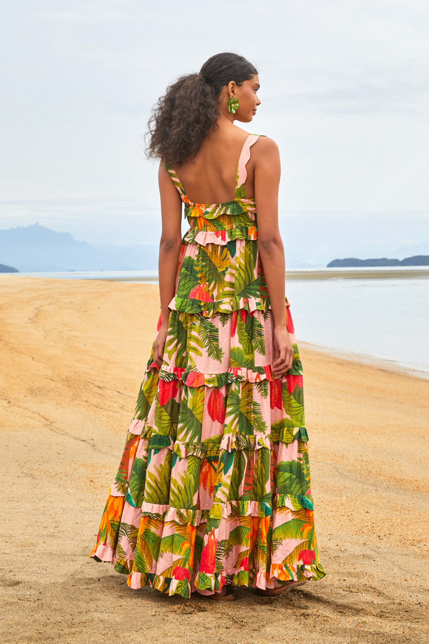 Pink Cocoa Forest Maxi Dress