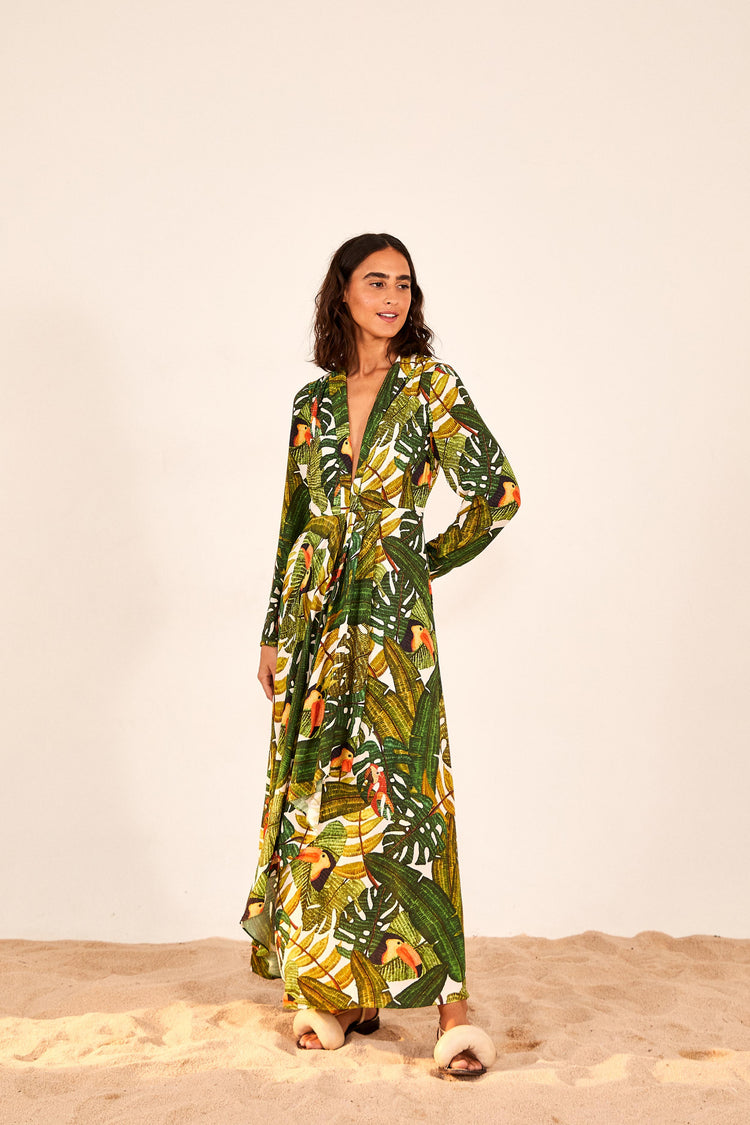 PARADISE FOREST MAXI DRESS