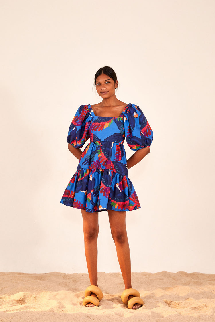 RAINBOW MACAW MINI DRESS