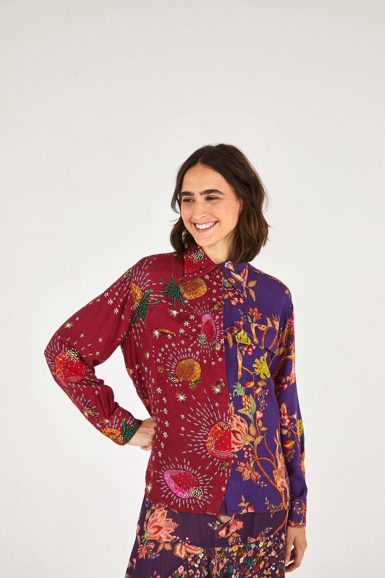 COSMIC FLORAL SHIRT