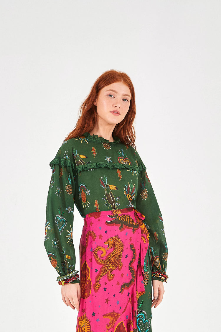 GREEN FARM FESTA BLOUSE