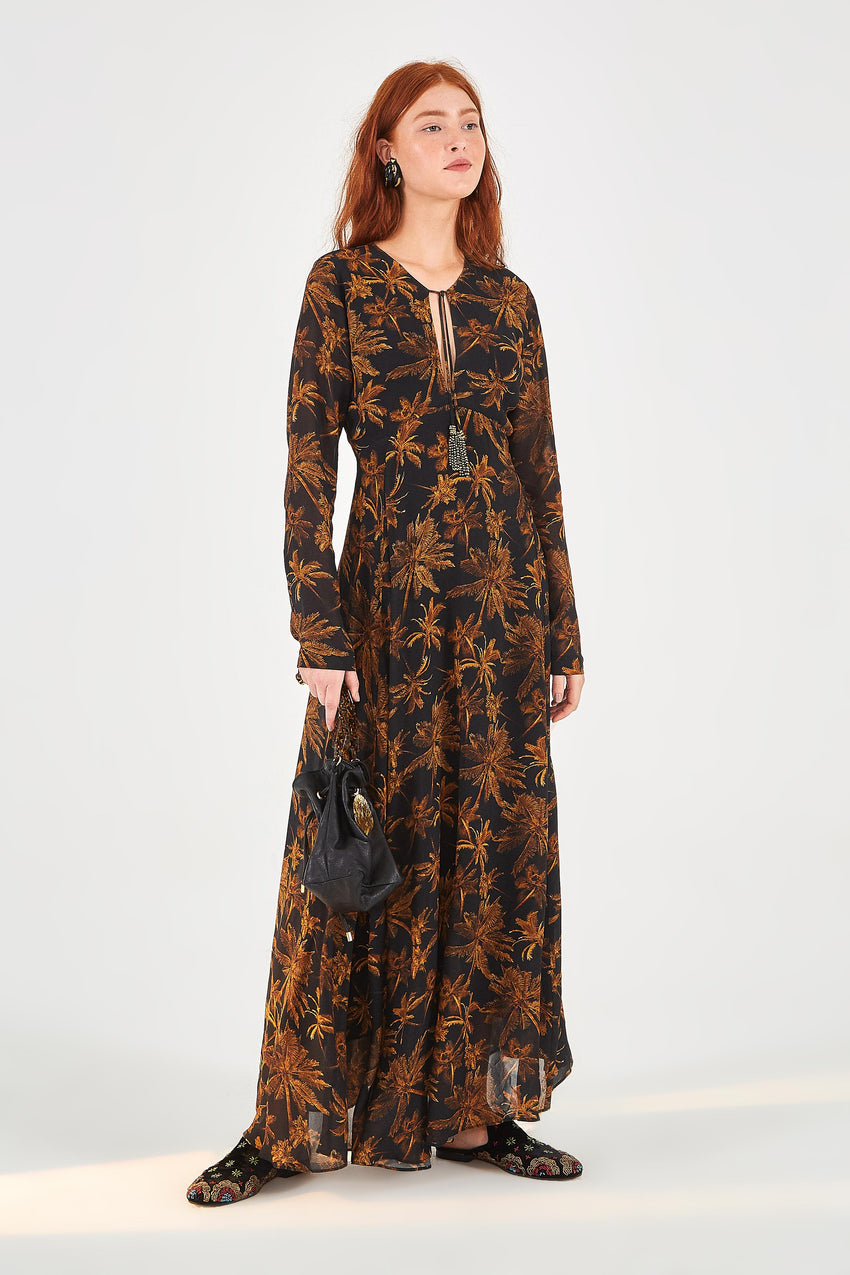 GOLDEN PALMS MAXI DRESS