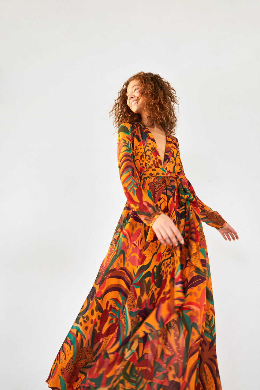 GOLDEN JUNGLE MAXI DRESS