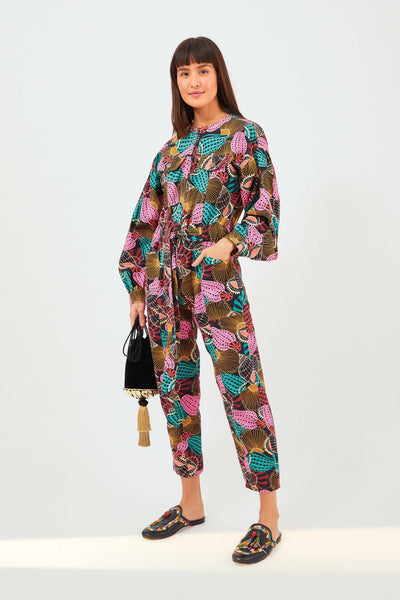 SHELL MIX JUMPSUIT