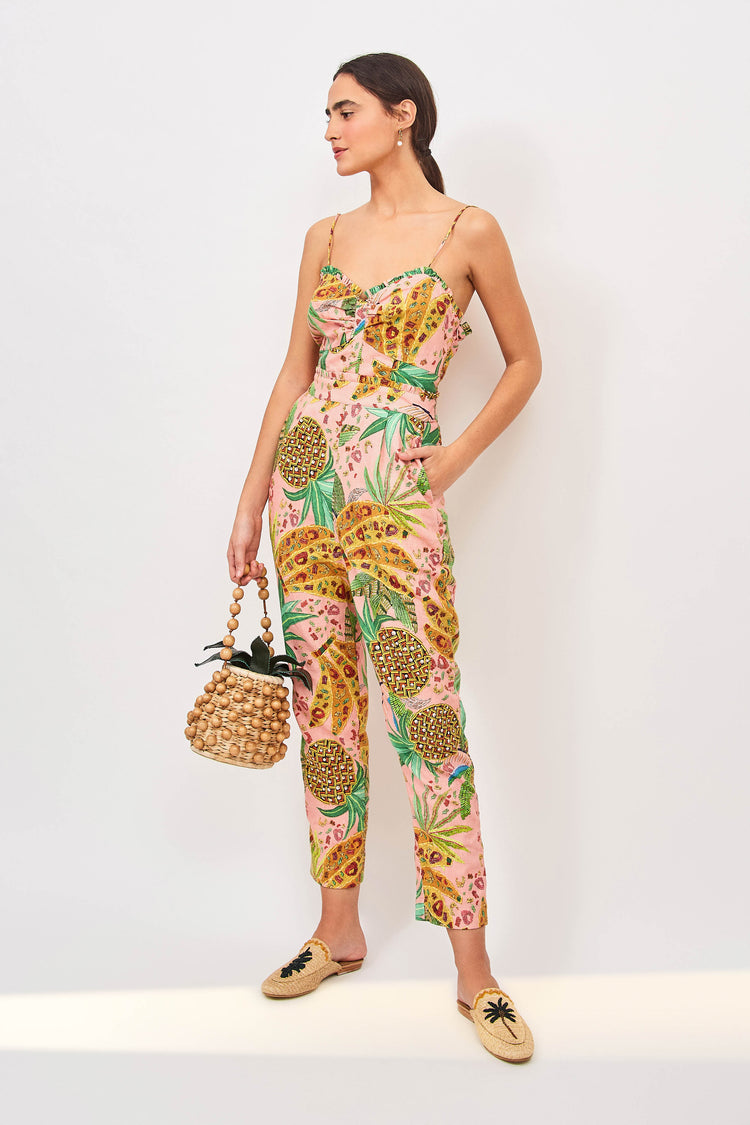PINK MIXED FRUITS JUMPSUIT