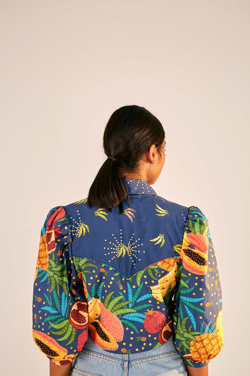 FRUIT FOREST WESTERN CROPPED SHIRT