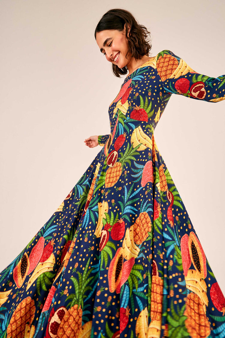 FRUIT FOREST MAXI DRESS