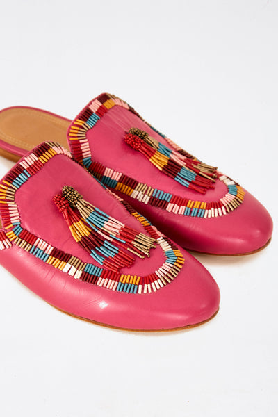 COLORFUL BEADPINK MULE