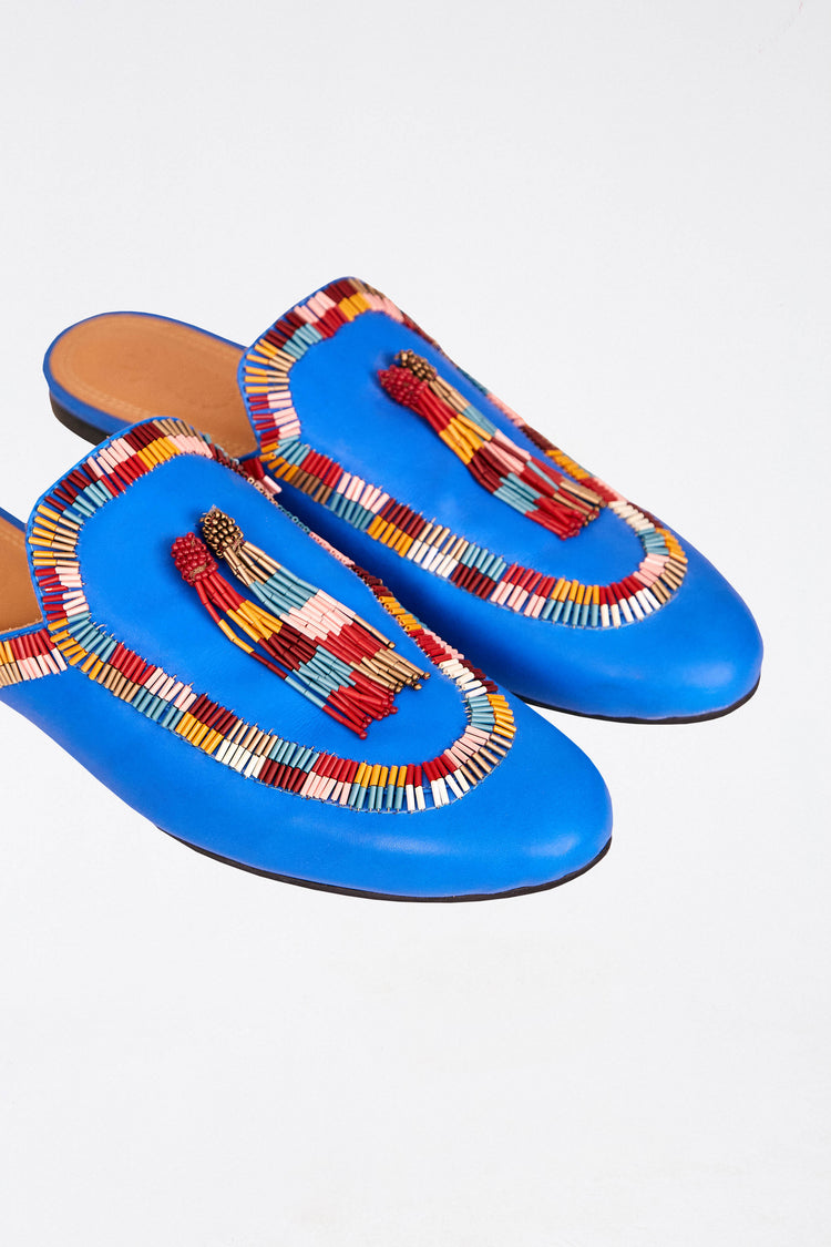 COLORFUL BEAD BLUE MULE