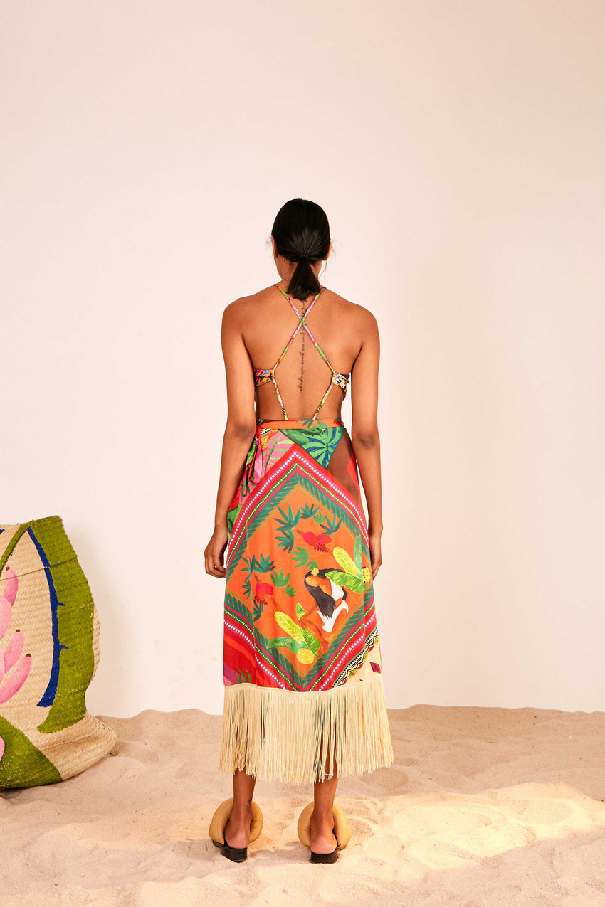 MIX SCARVES SUMMER WRAP SKIRT