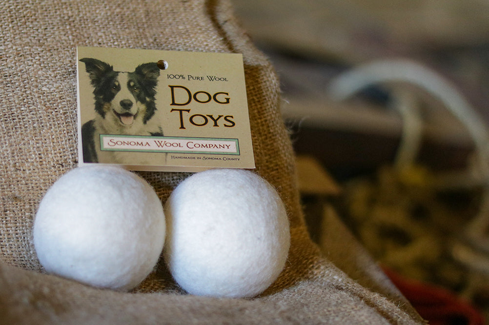 Sonoma Wool Company wool dog toys