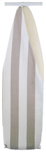 Load image into Gallery viewer, Sonoma Wool Company Ironing Board Pad and Linen Cover on ironing board with white background, showing wool under the linen cover.