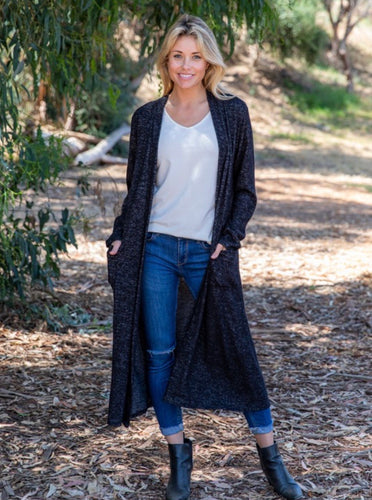 Heathered Black Duster