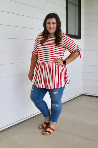 Red Stripe Tunic - Extended