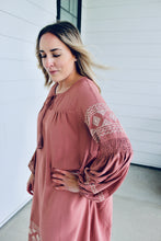 Load image into Gallery viewer, Boho Embroidered Long Sleeve Dress