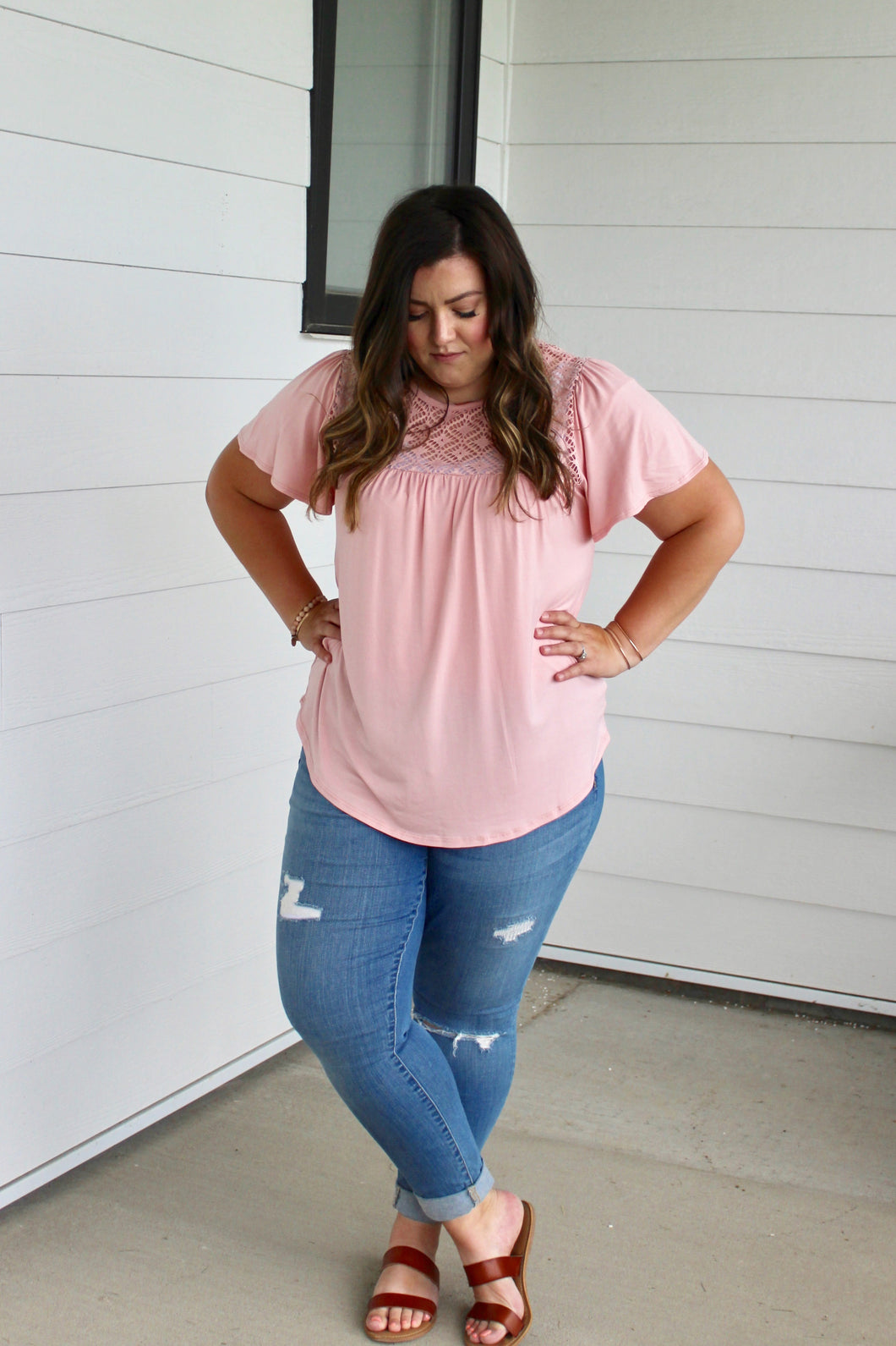 Pink Crochet Top - Extended