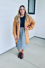 Load image into Gallery viewer, Chambray Striped Skirt
