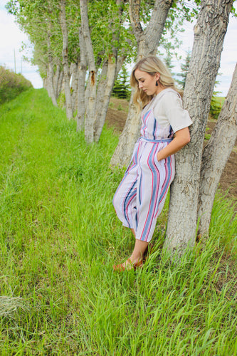 Taupe Striped Jumper