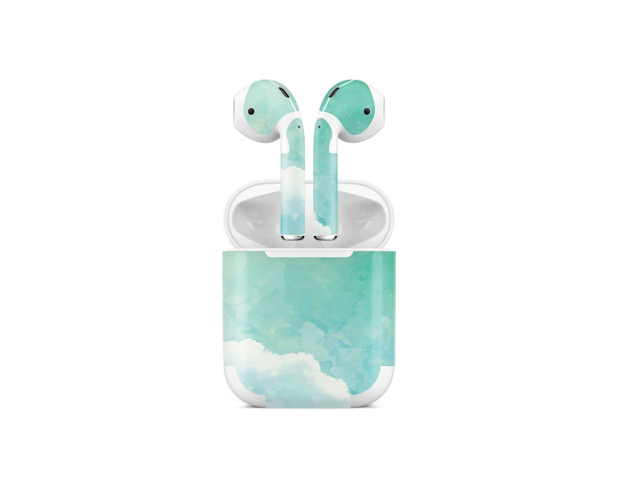 Sticky Bunny Shop AirPods 1 Green Sky Clouds AirPods 1 Skin