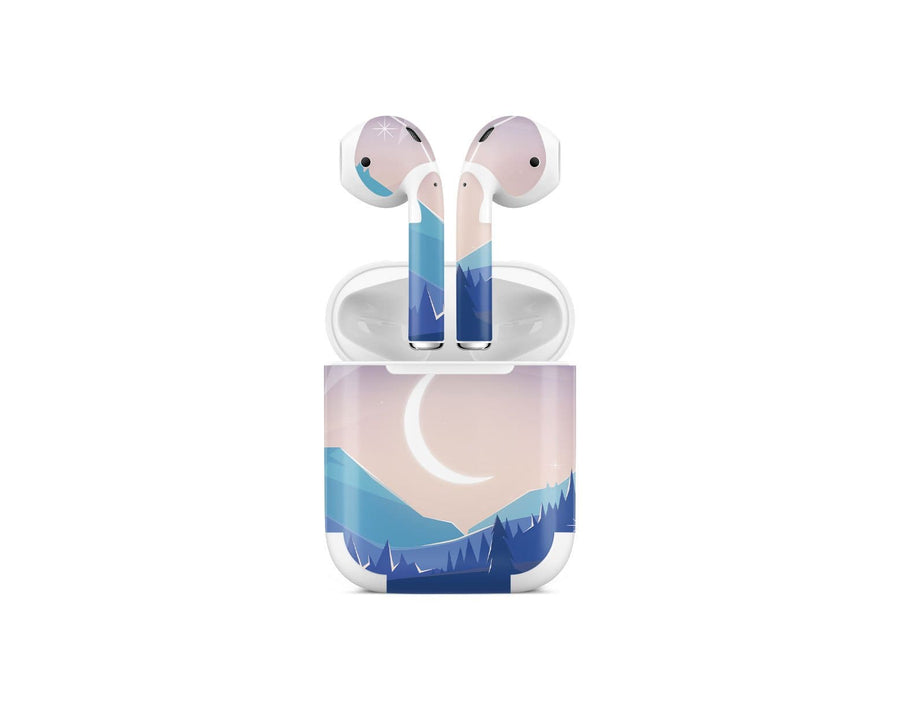 Sticky Bunny Shop AirPods 1 Lunar Mountains AirPods 1 Skin