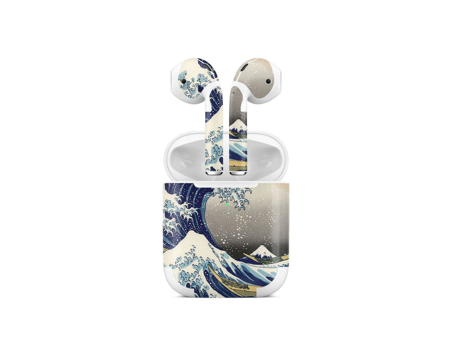 Sticky Bunny Shop AirPods 2 Great Wave Off Kanagawa By Hokusai AirPods 2 Skin
