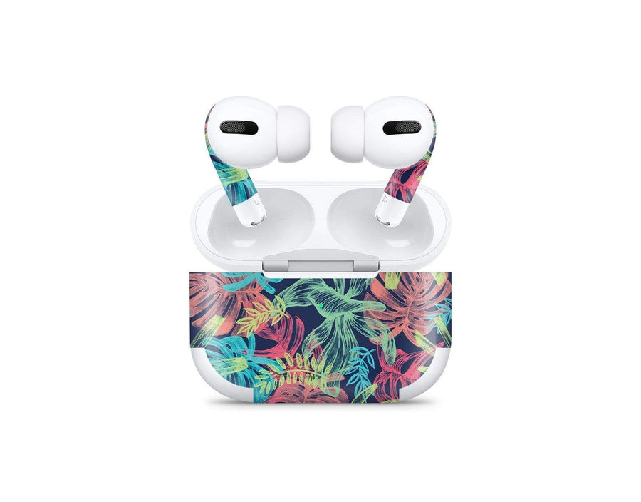 Sticky Bunny Shop AirPods Pro Neon Tropical Leaves AirPods Pro Skin