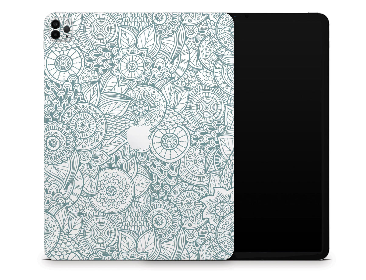 """Abstract Floral iPad Pro 12.9"""" Gen 5 (2021) Skin - StickyBunny"""