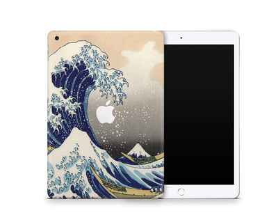 "Sticky Bunny Shop iPad Skins iPad 10.2"" Gen 7 (2019) Great Wave Off Kanagawa By Hokusai iPad Skin"