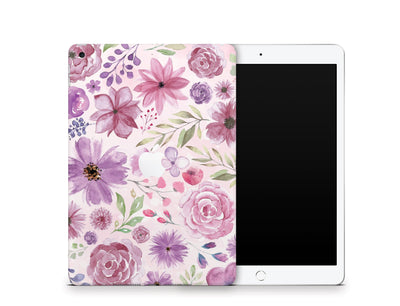 "Sticky Bunny Shop iPad Skins iPad 10.2"" Gen 7 (2019) Watercolor Flowers iPad Skin"