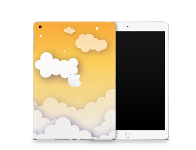 "Sticky Bunny Shop iPad Skins iPad 10.2"" Gen 7 (2019) Yellow Clouds In The Sky iPad Skin"