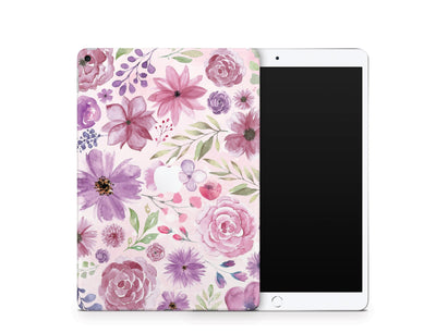 Sticky Bunny Shop iPad Skins iPad Air 3 Watercolor Flowers iPad Skin
