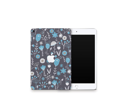 Sticky Bunny Shop iPad Skins iPad Mini 5 Cute Blue Flowers iPad Skin