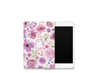 Sticky Bunny Shop iPad Skins iPad Mini 5 Watercolor Flowers iPad Skin