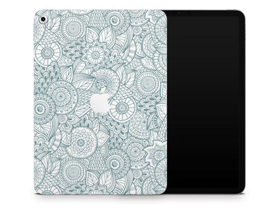 "Sticky Bunny Shop iPad Skins iPad Pro 12.9"" Gen 3 (2018-2019) Abstract Floral iPad Skin"